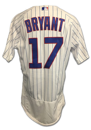 Kris Bryant 2017 Postseason Game-Used Jersey -- 10/9 vs. Nationals: NLDS Game 3 -- 10/18 vs. Dodgers: NLCS Game 4