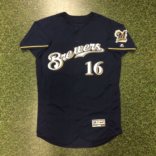 Domingo Santana 2016 Game-Used Home Navy Jersey