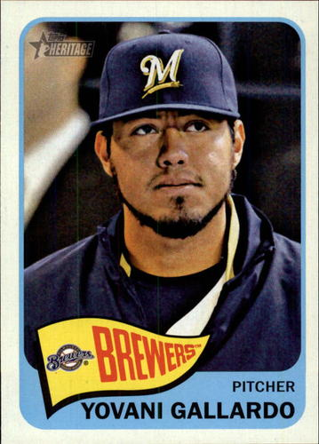 Photo of 2014 Topps Heritage #349 Yovani Gallardo