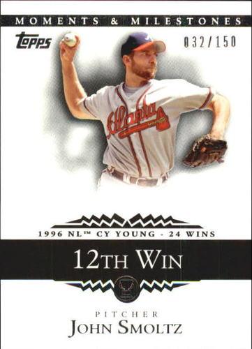 Photo of 2007 Topps Moments and Milestones #127-12 John Smoltz/W 12