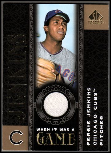 Photo of 2007 SP Legendary Cuts When it Was a Game Memorabilia #FJ Fergie Jenkins
