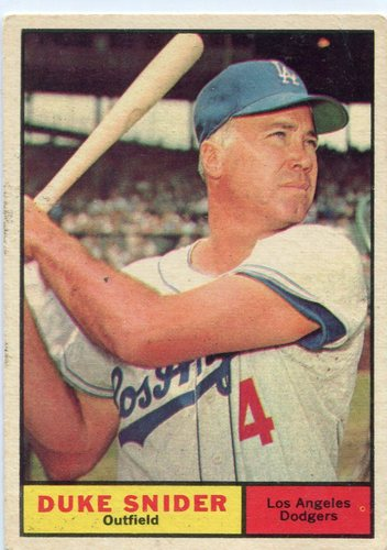 Photo of 1961 Topps #443 Duke Snider -- Dodgers Hall of Famer