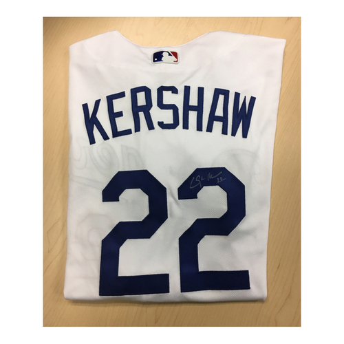 Photo of LA Dodgers Foundation Auction: Clayton Kershaw Game-Used Autographed LA Dodger Jersey