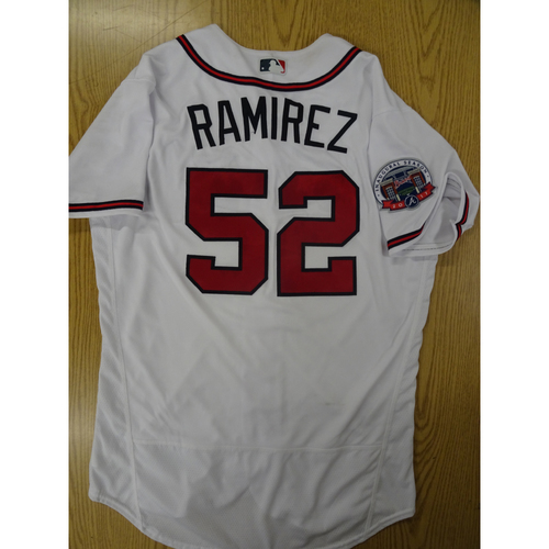 Photo of Jose Ramirez Game-Used Los Bravos Jersey - Worn 9/17/17 at SunTrust Park
