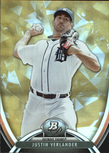 Photo of 2013 Bowman Platinum Gold #73 Justin Verlander -- Astros post-season