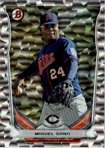 Photo of 2014 Bowman Draft Top Prospects Silver Ice #TP2 Miguel Sano -- Twins post-season