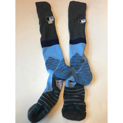 Photo of Game Worn Warwick Saupold Father's Day Socks