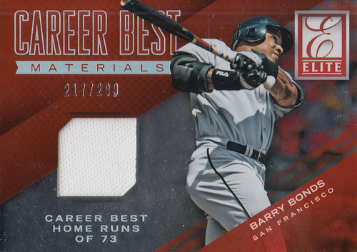 Photo of 2015 Elite Career Bests Materials #25 Barry Bonds/299