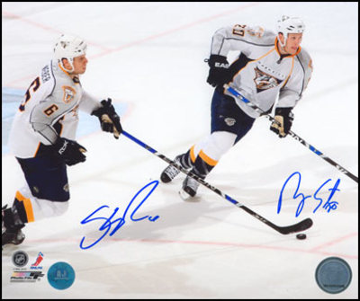 SHEA WEBER & RYAN SUTER Nashville Predators SIGNED 8x10 Photo