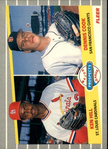 Photo of 1989 Fleer #652 Ken Hill RC/Dennis Cook