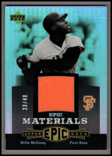Photo of 2006 Upper Deck Epic Materials Grey #WM Willie McCovey Jsy/40