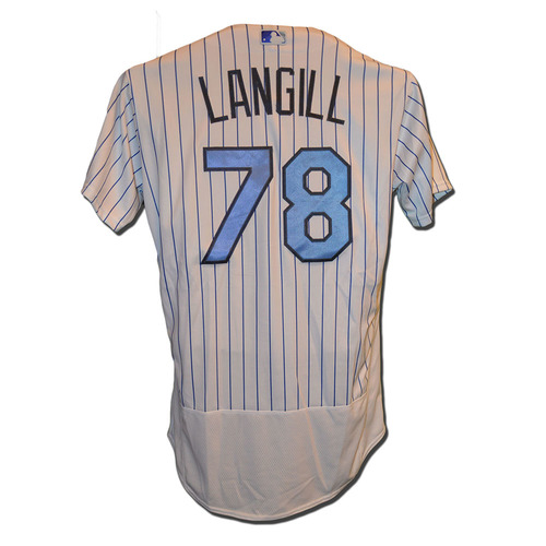Photo of Eric Langill #78 - Game Used Father's Day Jersey - Mets vs. Nationals - 6/18/17