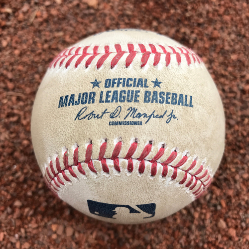 Photo of San Francisco Giants - 2017 Game-Used Baseball - Joe Panik Single