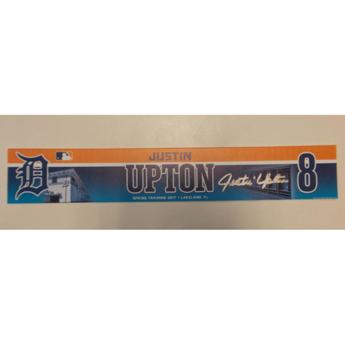 Photo of Autographed Team-Issued Justin Upton Locker-Name Plate