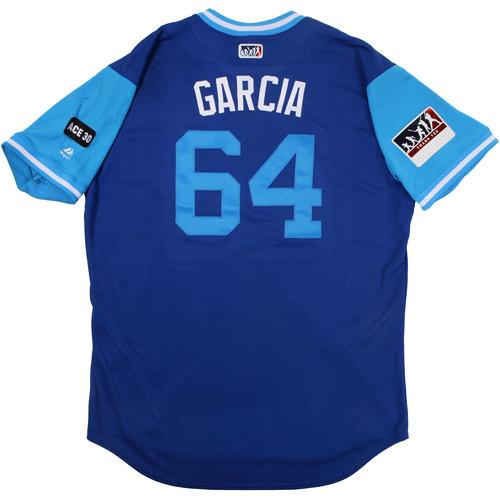 "Photo of Onelki ""Garcia"" Garcia Kansas City Royals Game-Used Players Weekend Jersey"