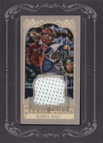 Photo of 2012 Topps Gypsy Queen Framed Mini Relics #BM Brian McCann