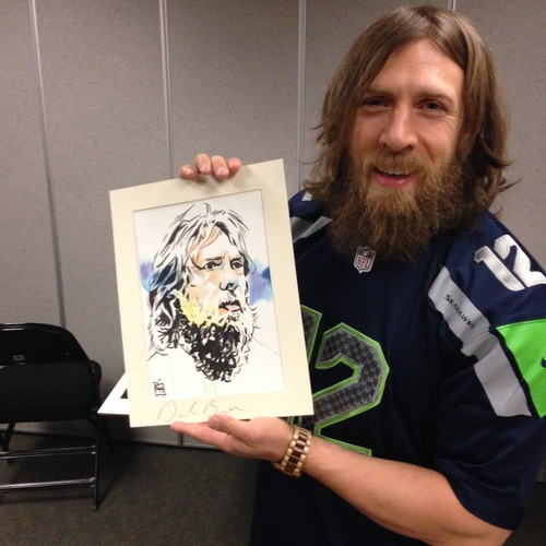 Daniel Bryan Signed Painting by Rob Schamberger
