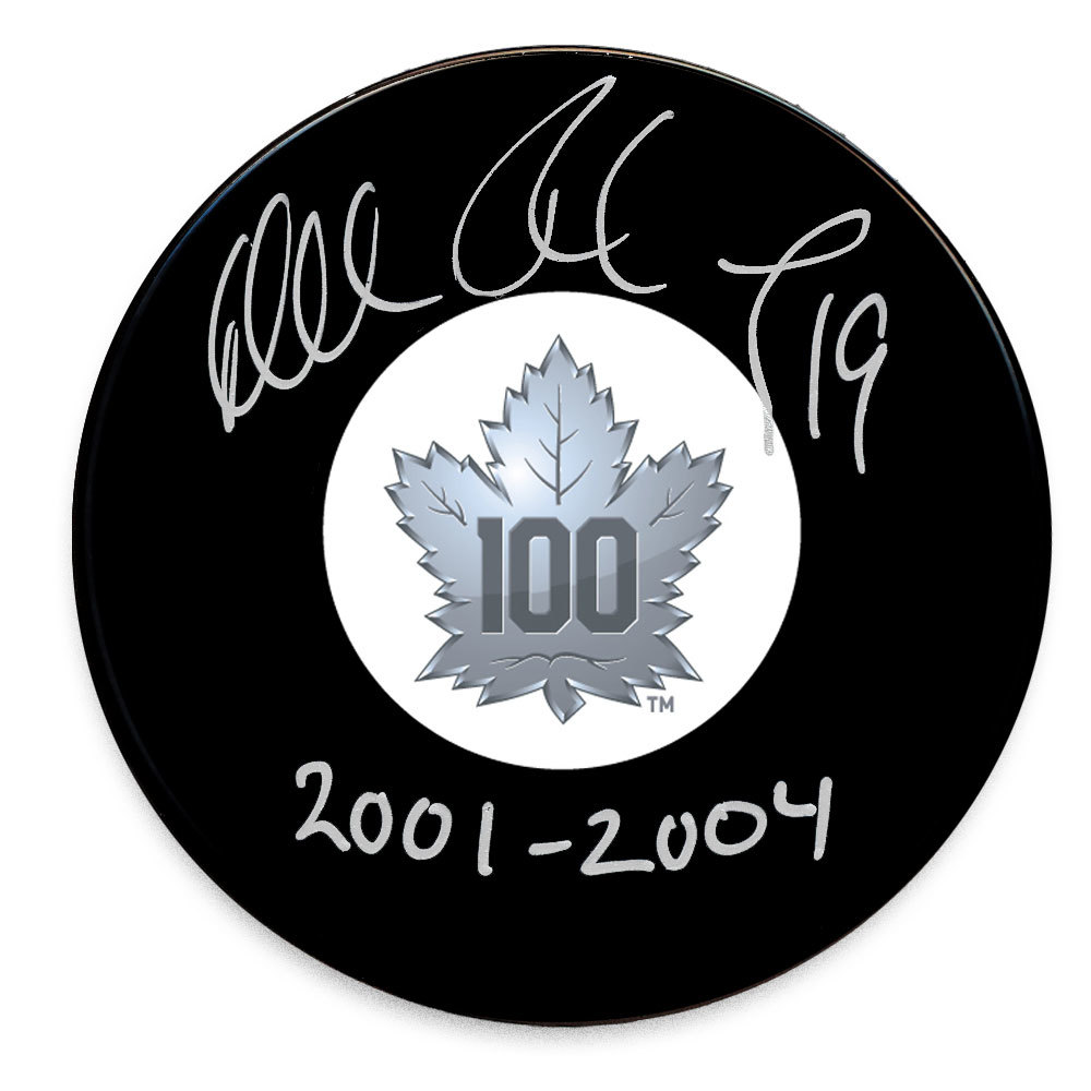 Mikael Renberg Toronto Maple Leafs 100th Anniversary Autographed Puck