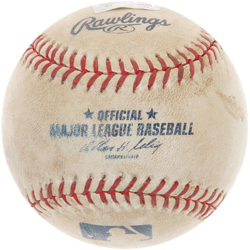 Photo of Game-Used Baseball from Tom Glavine's 2,500th Career Strikeout Game