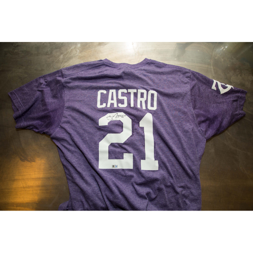 Photo of Autographed Jason Castro Prince Night Batting Practice T-Shirt
