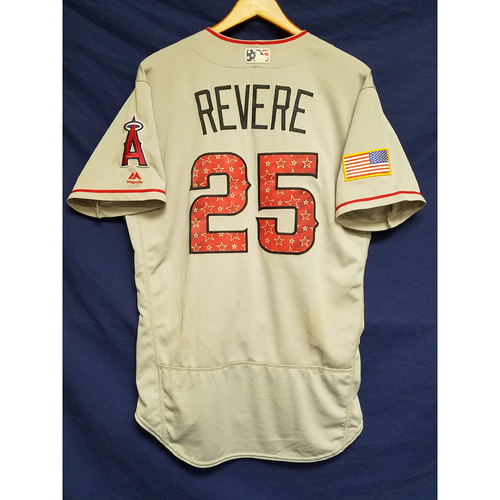 Photo of Ben Revere Game-Used Road Jersey - 7/4/2017