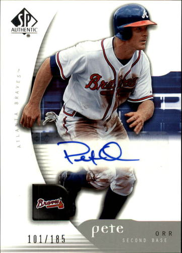 Photo of 2005 SP Authentic #157 Pete Orr AU RC