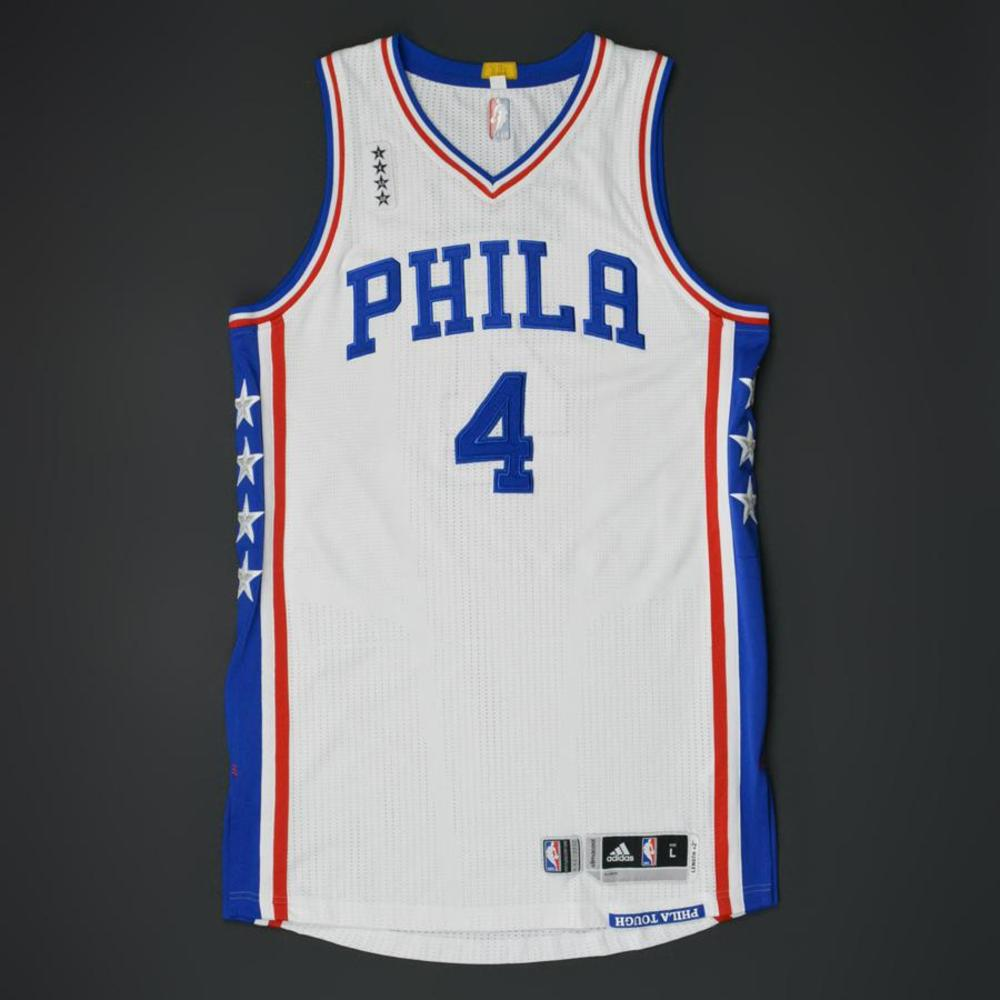 Nerlens Noel - Philadelphia 76ers - Game-Worn Regular Season Jersey - 2015-16 Season