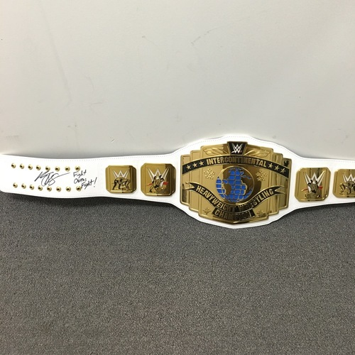 Photo of Kevin Owens SIGNED Intercontinental Championship Replica Title