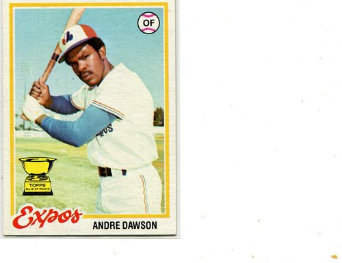 Photo of 1978 Topps #72 Andre Dawson -- Hall of Famer