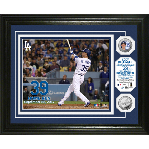"Photo of Serial #1! Cody Bellinger NL Rookie HR Record ""39th"" Bronze Coin Photo Mint"
