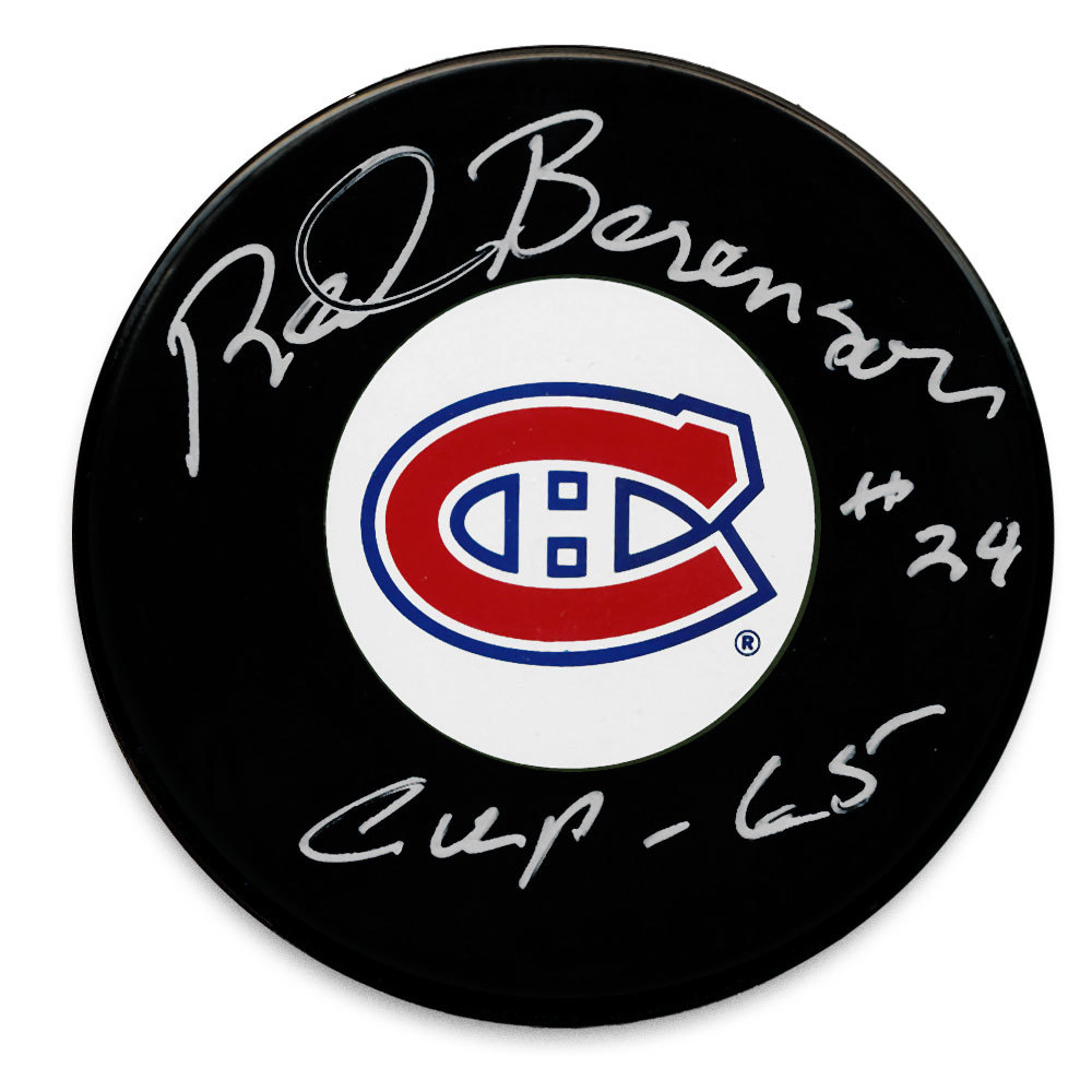 Red Berenson Montreal Canadiens 1965 Cup Autographed Puck