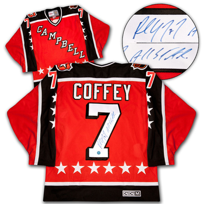 PAUL COFFEY 1984 NHL All Star Game Autographed Campbell Conference Jersey *AJ Sports World*