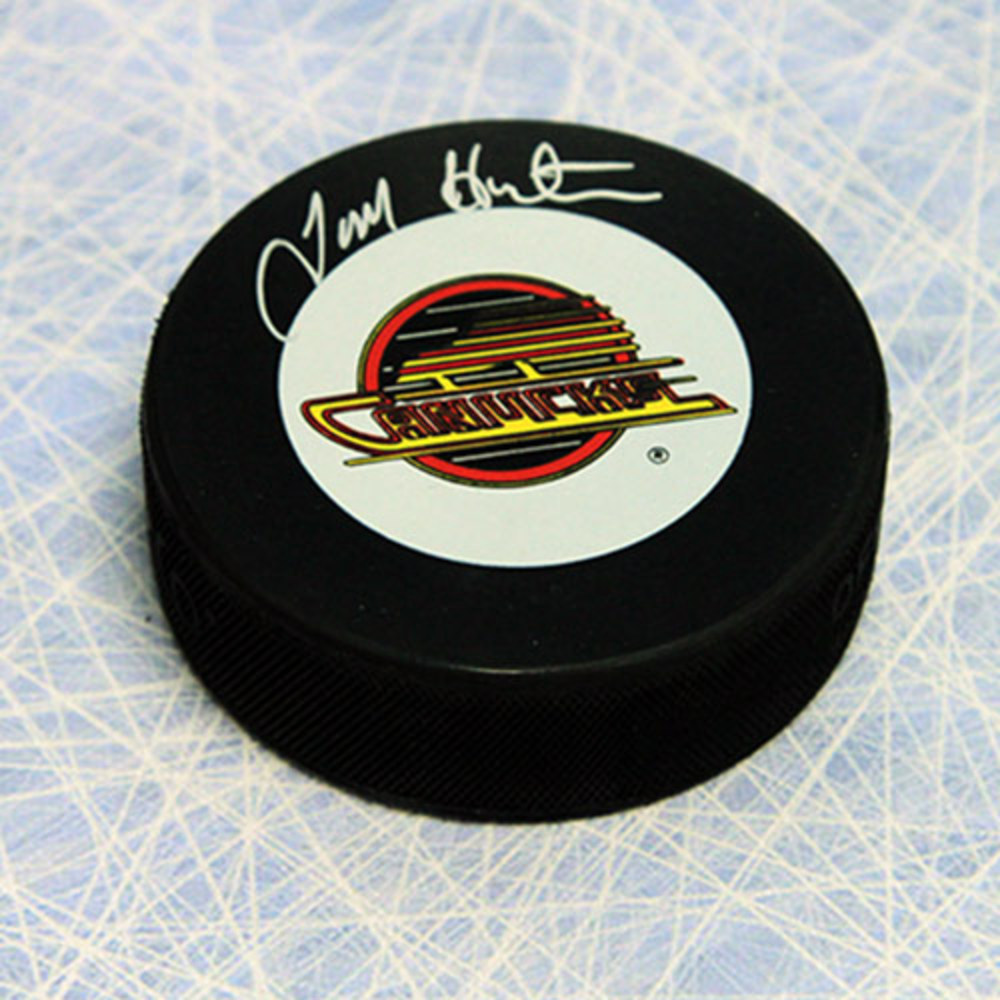 Tim Hunter Vancouver Canucks Autographed Hockey Puck