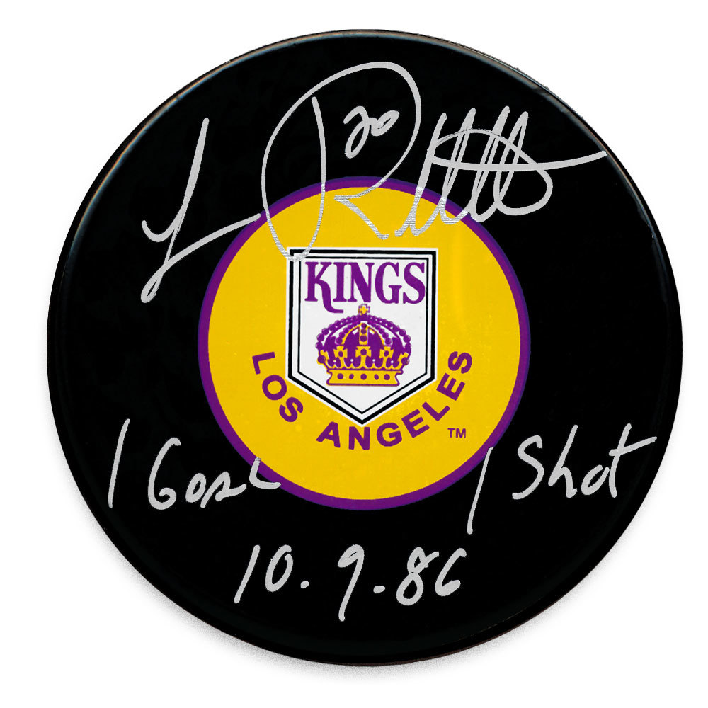 Luc Robitaille Los Angeles Kings 1st Goal 1st Shot 10.9.86 Autographed Puck