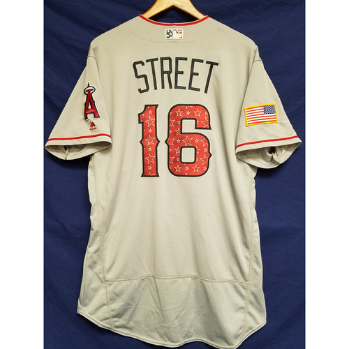 Photo of Huston Street Game-Used Road Jersey - 7/4/2017