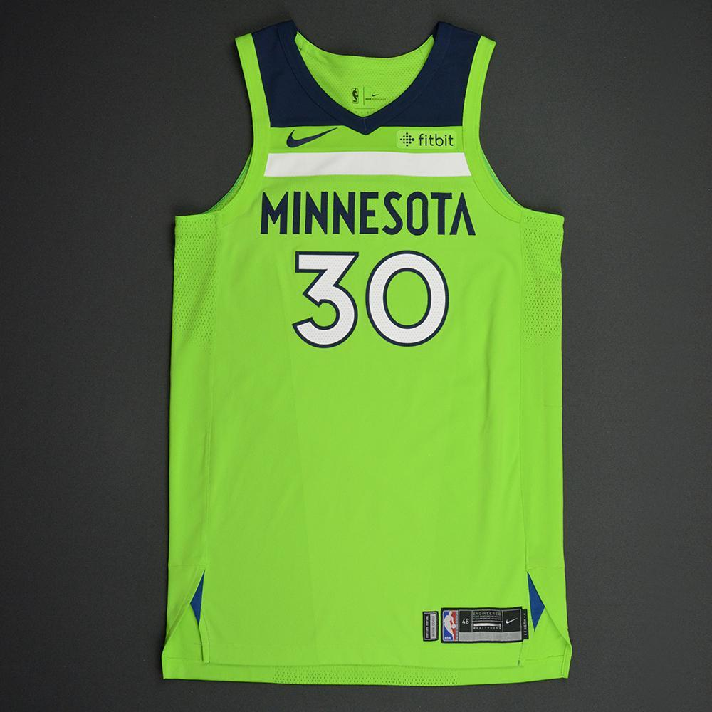 Aaron Brooks - Minnesota Timberwolves - Statement Game-Worn Jersey - Dressed, Did Not Play - 2017-18 Season