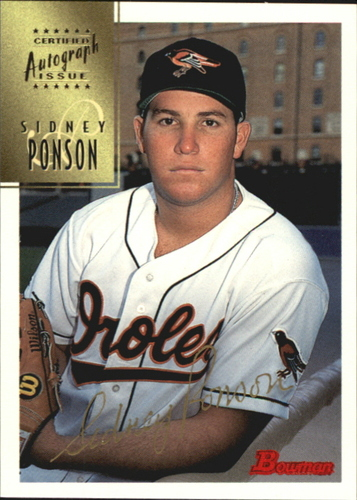Photo of 1997 Bowman Certified Gold Ink Autographs #CA63 Sidney Ponson