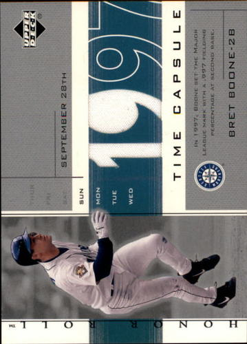 Photo of 2002 Upper Deck Honor Roll Time Capsule Game Jersey #TCBB1 Bret Boone 97 SP/69 *