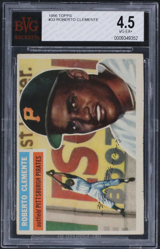 Photo of 1956 Topps #33 Roberto Clemente Graded BVG 4.5