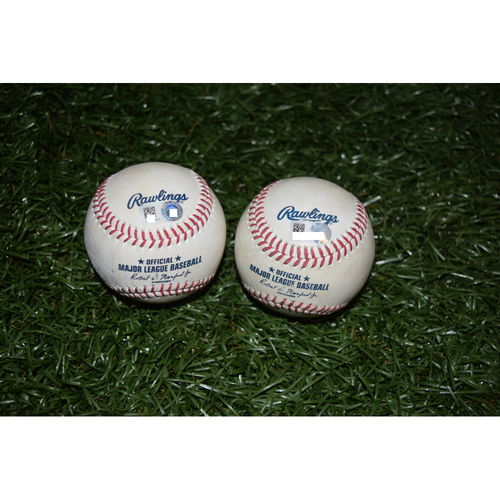 Photo of Game-Used Baseballs: Evan Longoria and Mike Trout