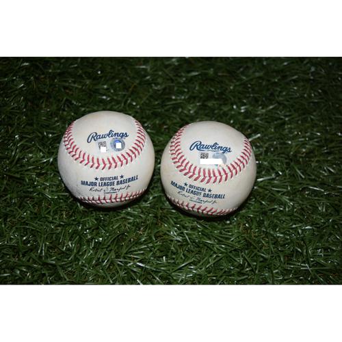 Game-Used Baseballs: Evan Longoria and Mike Trout