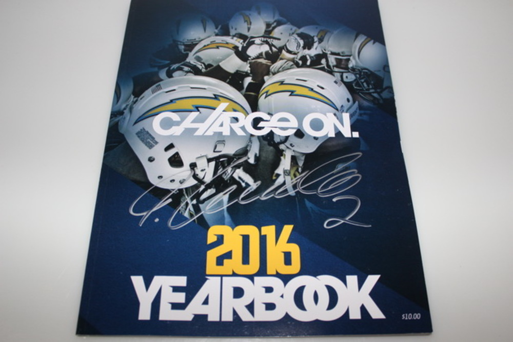 CHARGERS - JOSH LAMBO SIGNED 2016 CHARGERS YEARBOOK