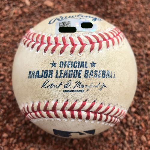 Photo of San Francisco Giants - 2016 Game-Used Baseball - Madison Bumgarner Strikes Out Clayton Kershaw