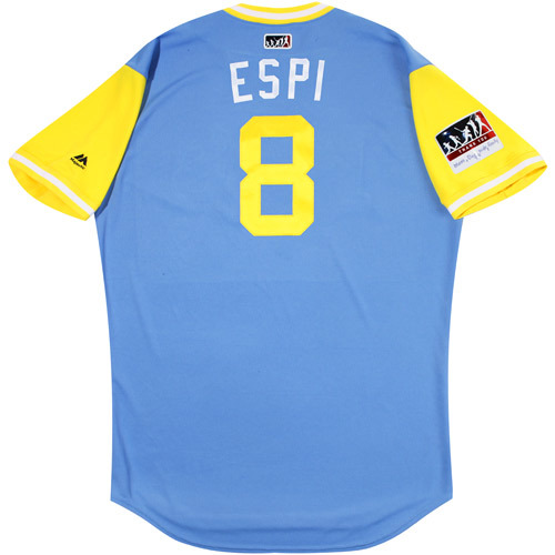 "Photo of Danny ""Espi"" Espinosa Tampa Bay Rays Game-Used Players Weekend Jersey"
