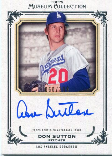 Photo of 2013 Topps Museum Collection Autograph Don Sutton 60/399 -- Hall of Famer