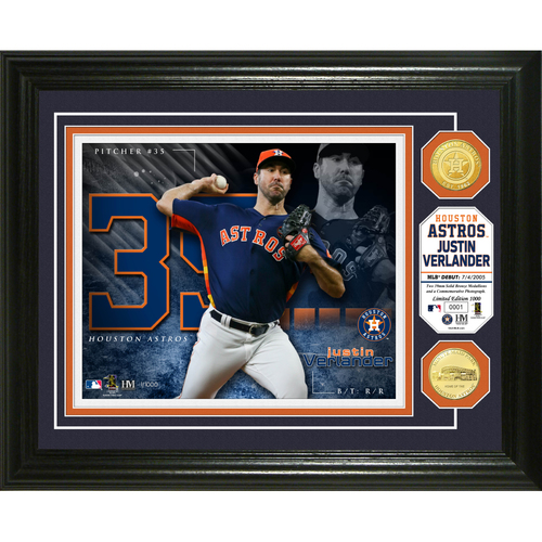 "Photo of Serial #1! Justin Verlander ""Astros"" Bronze Coin Photo Mint"