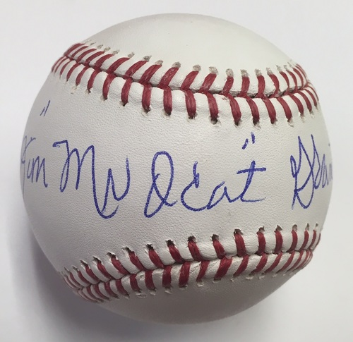 Photo of Jim Mudcat Grant Autographed Baseball