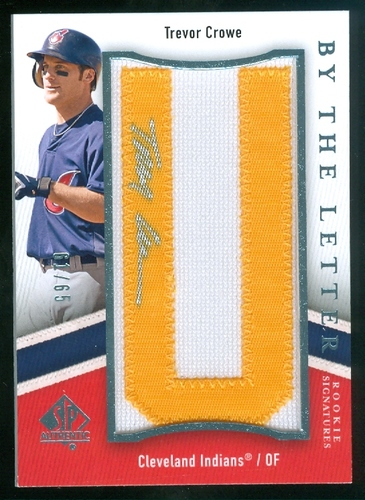 Photo of 2009 SP Authentic By The Letter Rookie Signatures #TR Trevor Crowe/715 */Letters spell SP Authentic/