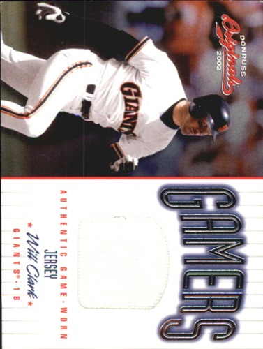 Photo of 2002 Donruss Originals Gamers #40 Will Clark/500