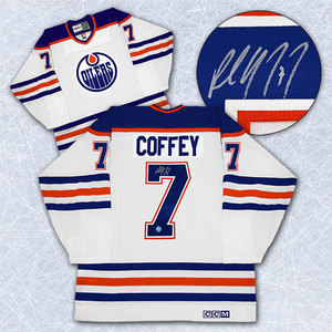 Paul Coffey Edmonton Oilers Autographed Retro CCM Home Jersey